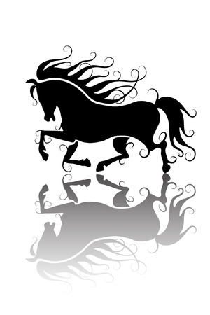 stylized horse silhouette Vector