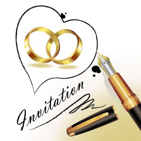 Wedding card Stock Vector - 8450862