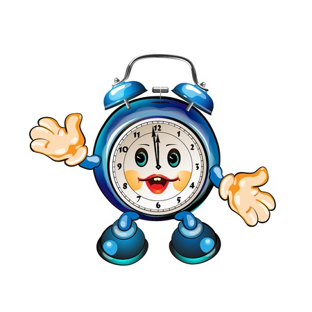 cute cartoon clock  Stock Vector - 8803833