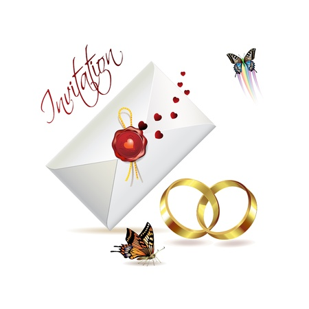 Wedding card with butterflies  Stock Vector - 8804078