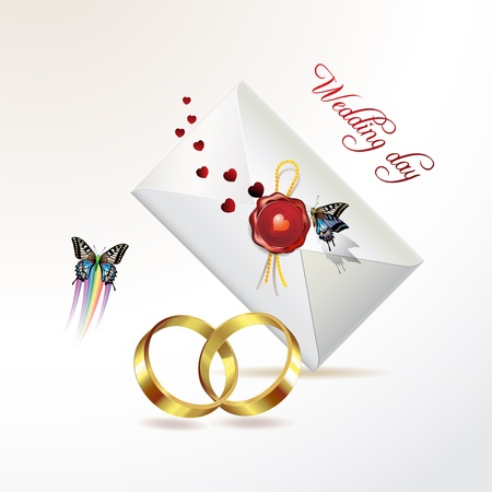 Wedding card with butterflies Stock Vector - 8804085