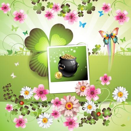 St. Patrick's Day card design Stock Vector - 9096069