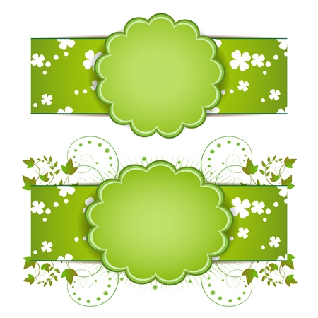 Banner design for springtime card isolated on white background  Vector