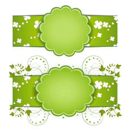 Banner design for springtime card isolated on white background Stock Vector - 9100255