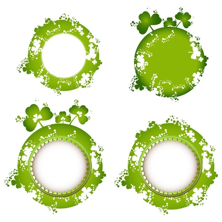 Frame design with clover for St. Patricks Day card  Vector