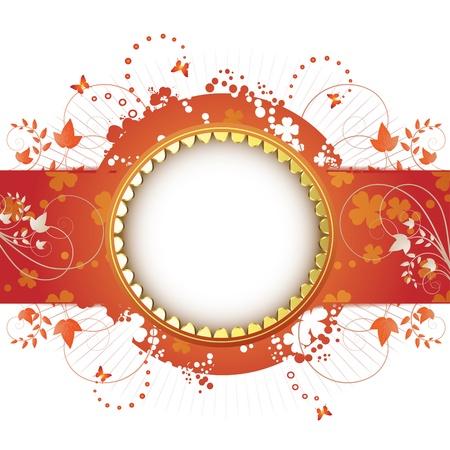 celebrate life: Dise�o de banner para tarjeta de primavera aislada sobre fondo blanco  Vectores
