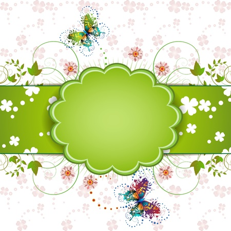 clover banners: Banner design for St. Patricks Day card