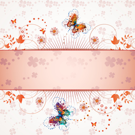 white daisy: Banner design for springtime card  Illustration