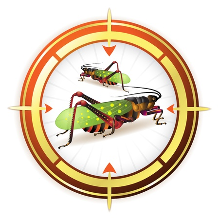 Sniper target with grasshopper Vector