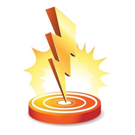 pernos: Perno de poderosos rayos dirigidos a Vectores