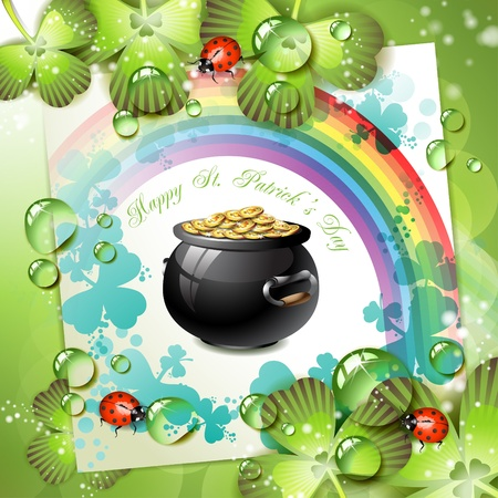 St. Patrick's Day card design Stock Vector - 9667806