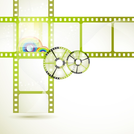 movie screen: Film frames with colored circles Illustration