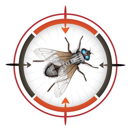 Cel snajper z mucha Ilustracje wektorowe