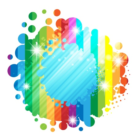 summer festival: Colorful background with colored circles  Illustration