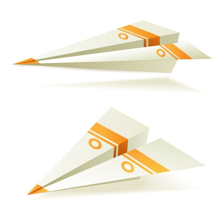 toy plane: Origami planes Illustration