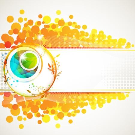 Banner design for springtime card Vector