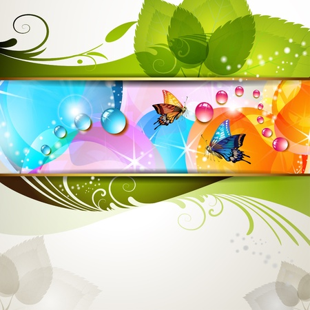 Colorful background with butterflies Stock Vector - 11143356
