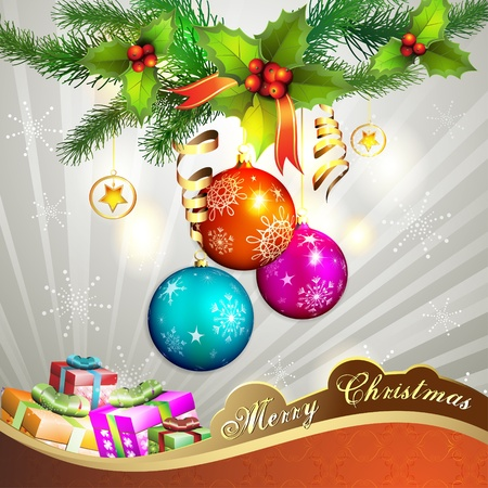 Christmas ball with gifts Vector