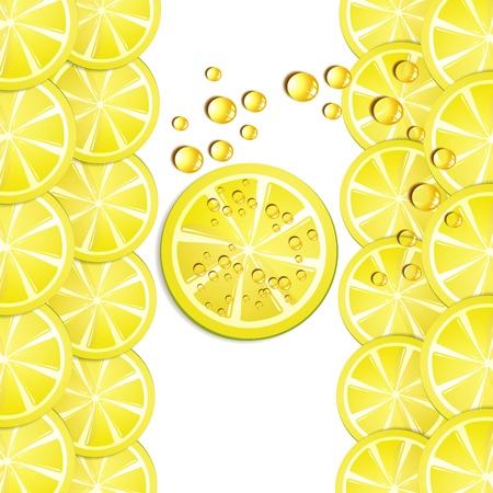 gastronomic: Background with lemon slice Illustration
