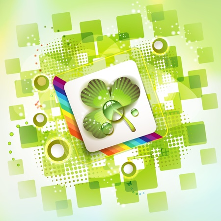 Square backgrounds with clover  Stock Vector - 11659047