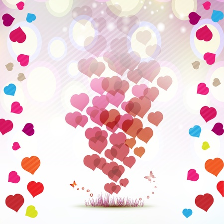 ambiance: Valentine s day card with butterflies