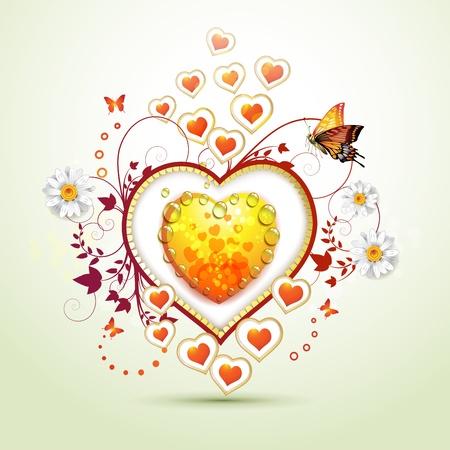 Carta di San Valentino s con le farfalle
