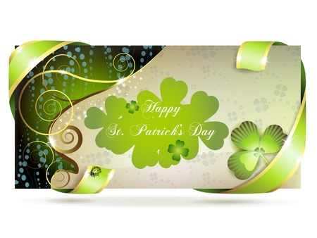 Banner with clover for St. Patrick Stock Vector - 12401617