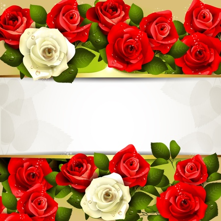artistic flower: Background with roses