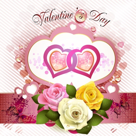 ambiance: Valentine s day card with roses
