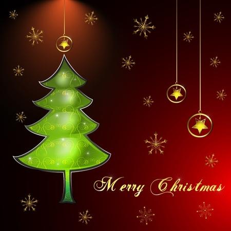 happy seasonable: Christmas card  Illustration