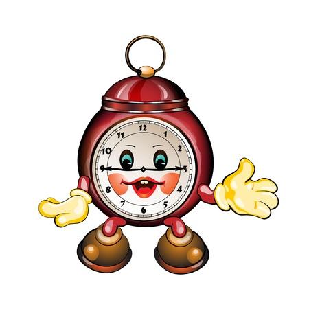 clock cartoon: Cute cartoon clock