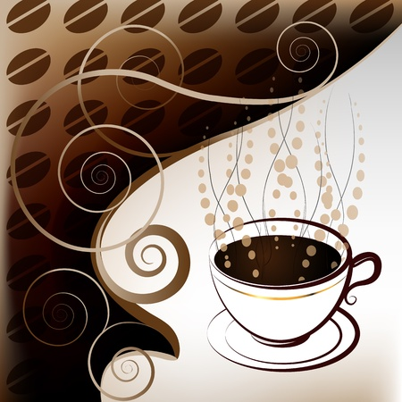 Cup of coffee Stock Vector - 12984567