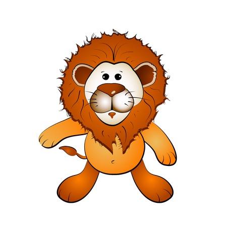 chaume: Lion de bande dessin�e