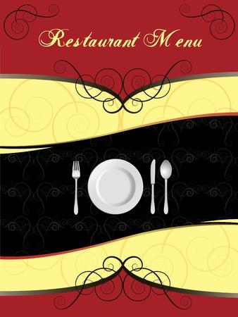 Menu Card Design  Illustration