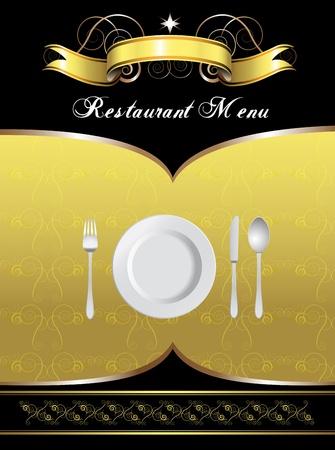 restaurant dining: Menu Card Design  Illustration
