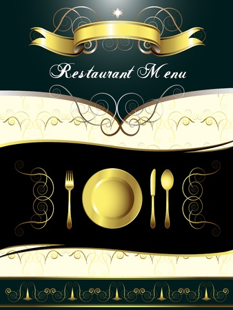 food label: Menu Card Design  Illustration