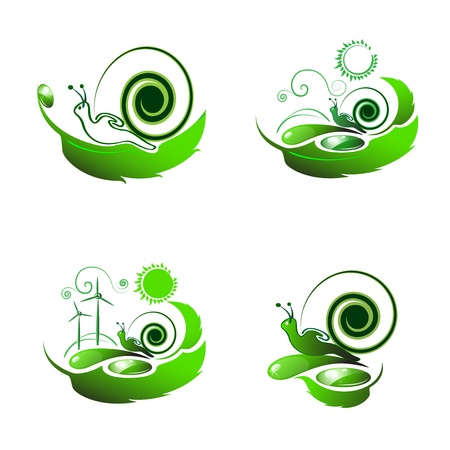 horn like: Snail travel on leaf