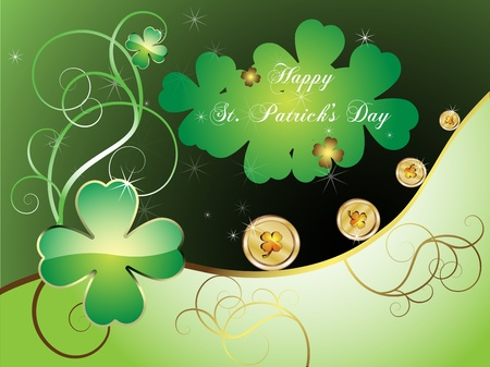 St  Patrick s Day card  Vector