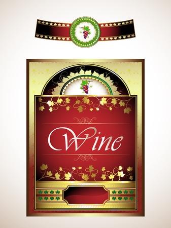 Vintage set, labels for red wine  Vector