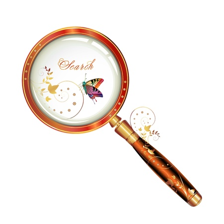Magnifying glass Stock Vector - 13007737
