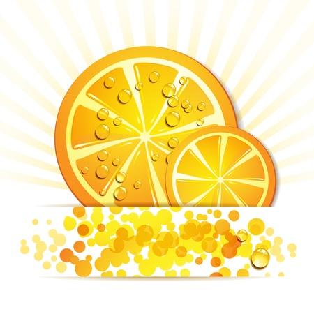 gastronomic: Slice of orange with drops