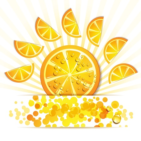 mellow: Slice of orange in decorated form Illustration