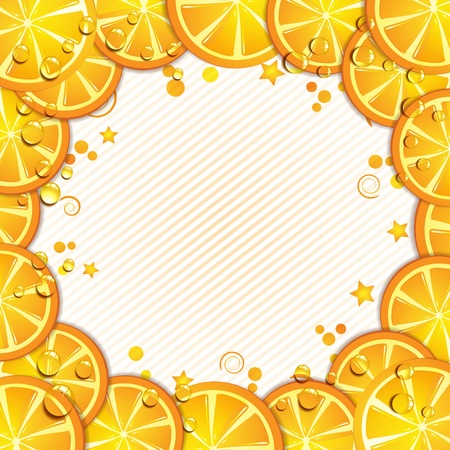 mellow: Background with orange slice