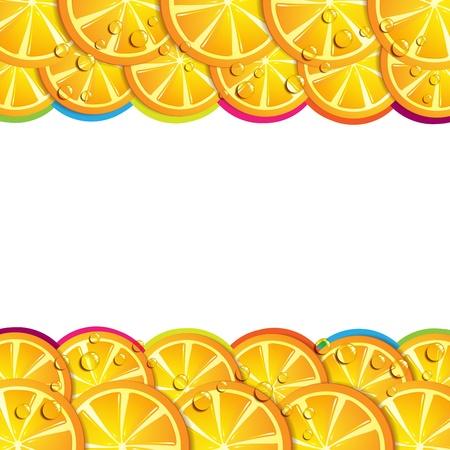 gastronomic: Background with orange slices