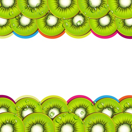 mellow: Background with kiwi slices Illustration
