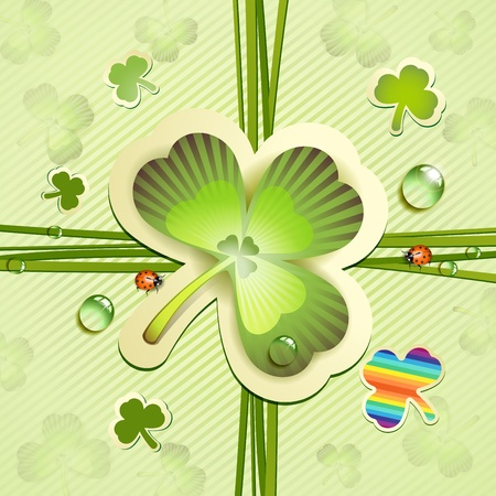 St  Patrick s Day card with clover Stock Vector - 13133905