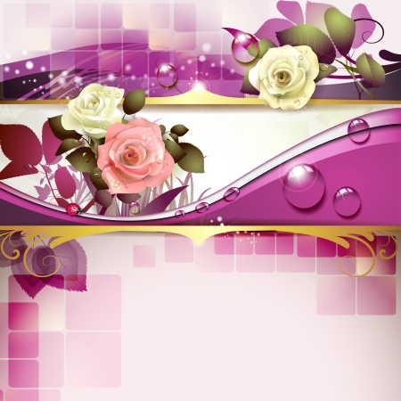 Springtime background with roses Stock Vector - 13727493