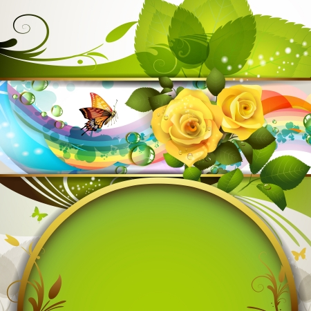 Colorful background with roses Vector