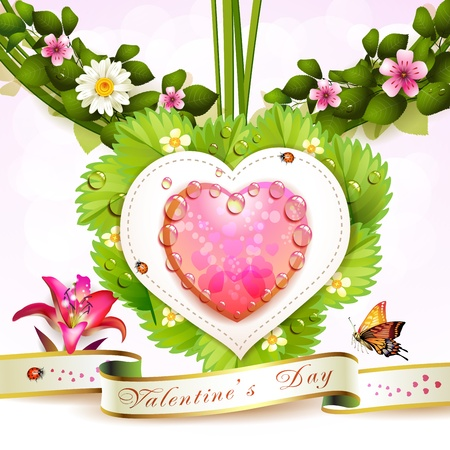 Heart with flowers  photo