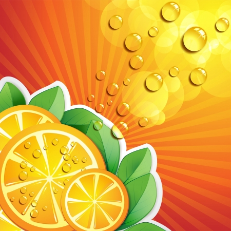 mellow: Slices orange with leaf
